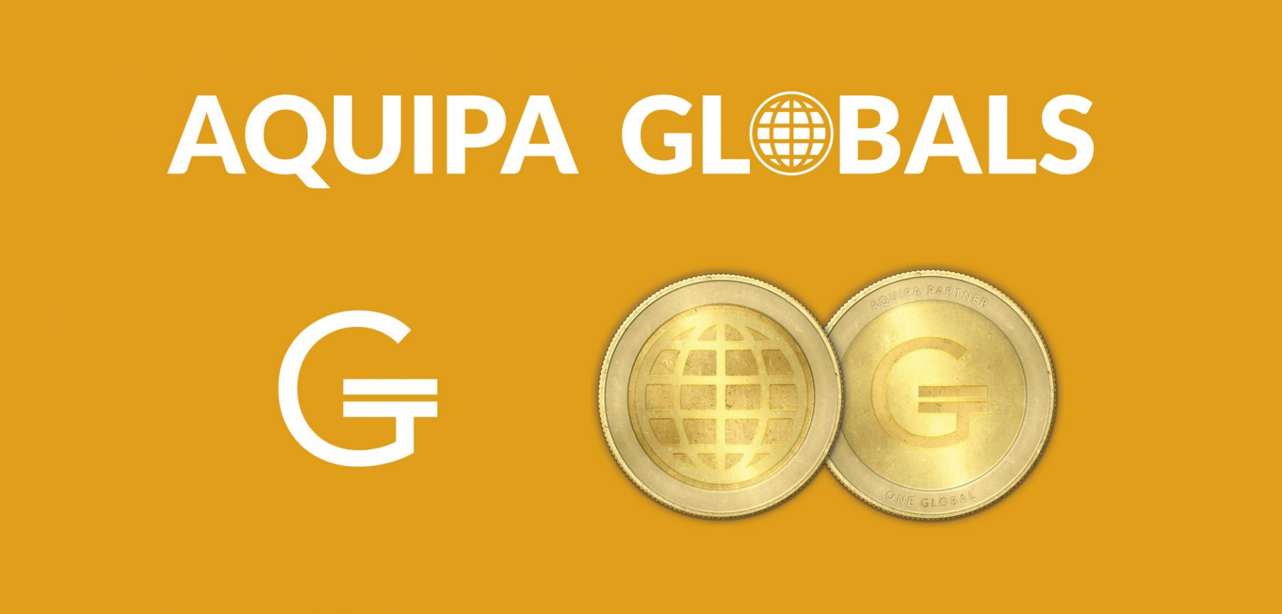 Branding for Aquipa Globals, including a currency inspired symbol.