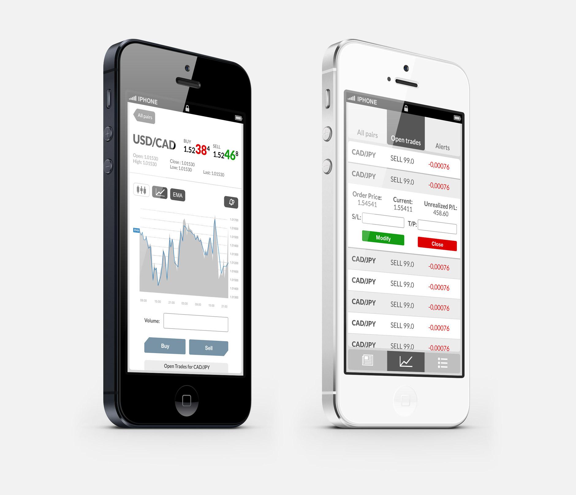 Trading App Mock-up